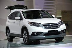 Honda blanche CRV Photos libres de droits
