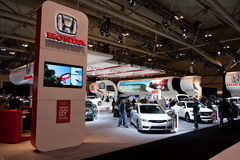 Honda booth at the auto show Royalty Free Stock Images