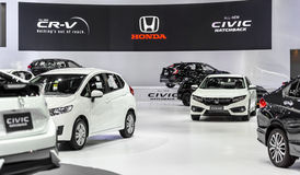 Honda booth. BANGKOK - MARCH 28 : Honda booth on display at The 38th Bangkok International Motor Show : Reach to The Planet of Technology on March 28, 2017 in Stock Photo