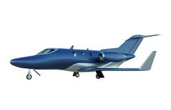 Honda business jet. Amazing and stylish design created by Honda corporation.Realistic 3d rendering of my Honda jet cad 3d model created with moi3d cad software Stock Photography
