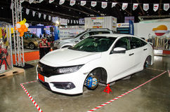 Honda car on display at Bangkok International Auto Salon 2016 Royalty Free Stock Photo