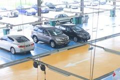 Honda cars in service centre Stock Photo