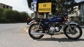 Honda CB 400 Four SS. In summer Royalty Free Stock Photography