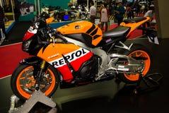 Honda CBR Repsol presented in Motor Show Royalty Free Stock Image