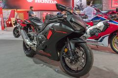 Honda CBR 1000 RR su esposizione Fotografia Stock