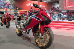 Honda CBR 1000 RR su esposizione Immagine Stock