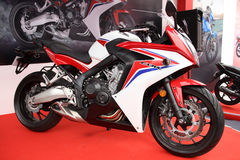 Honda cbrcykel royaltyfri fotografi