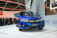 Honda City car on display Stock Images