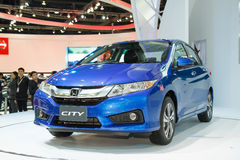 Honda City car on display Royalty Free Stock Images