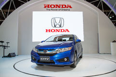 Honda City car on display Stock Photo