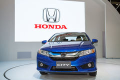 Honda City car on display Stock Image