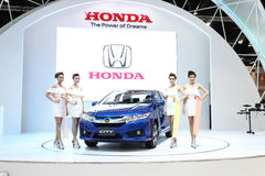 Honda City car with Unidentified models on display Stock Photo