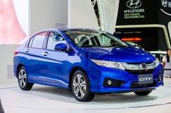 Honda City på Thailand den motoriska showen. royaltyfri fotografi
