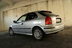 Honda civic. Silver color Honda Civic car royalty free stock photo