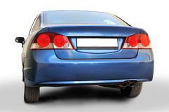 Honda Civic - Back. Back of blue color Honda Civic Lxi 1.8 I-VTEC car royalty free stock photography