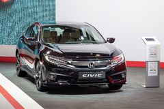 Honda Civic car. BRUSSELS - JAN 18, 2019: Honda Civic car showcased at the 97th Brussels Motor Show 2019 Autosalon stock photo