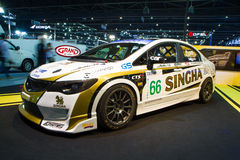 Honda Civic-de decoratie en wijzigt zich door Singha Team On Thailand International Motor Expo Stock Afbeelding