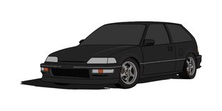 Honda Civic EF Hatchback in Vector stock illustration