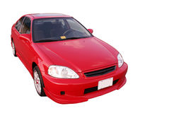 Honda Civic EX - Red 2. Isolated Red Honda Civic EX stock photo