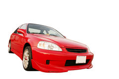 Honda Civic EX - vermelho 3 fotografia de stock