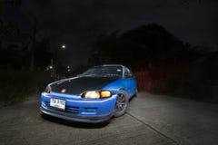 Honda Civic PER ESEMPIO 3Door/luce che dipinge fotografia automobilistica Fotografia Stock Libera da Diritti