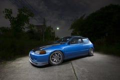 Honda Civic PER ESEMPIO 3Door/luce che dipinge fotografia automobilistica Immagini Stock