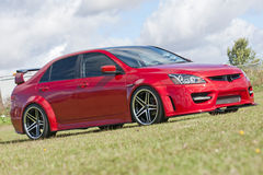 Honda Civic - rouge Photographie stock libre de droits
