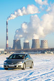 Honda Civic, Russia Tyumen 26 January 2012 Royalty Free Stock Photography