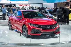 2017 Honda Civic Si. DETROIT, MI/USA - JANUARY 12, 2017: A 2017 Honda Civic Si car at the North American International Auto Show NAIAS stock photography