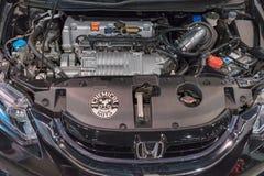 Honda Civic Si silnik na pokazie Zdjęcie Royalty Free