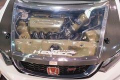 Honda Civic Si silnik na pokazie Obrazy Stock