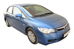 Honda Civic Side. Blue color Honda Civic Lxi 1. 8 I-VTEC car royalty free stock images