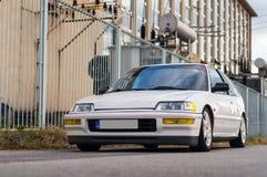 Honda. Civic tuned for street racing shot at industrial park Stock Photo