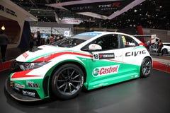 Honda Civic WTCC 2014 Bieżny samochód Obraz Stock