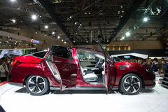 Honda Clarity Fuel Cell ,Tokyo 2015. Honda Clarity FCV side view,at the 44th Tokyo motor Show 2015 in Japan.The new Honda Clarity FCV is an hydrogen fuel cell Stock Photos