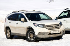 Honda CR-V. ASHA, RUSSIA - FEBRUARY 13, 2016: Motor car Honda CR-V at the snow covered countryside Royalty Free Stock Photography