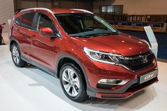 2018 Honda CR-V Sporty SUV car. BRUSSELS - JAN 10, 2018: Honda CR-V Sporty SUV car showcased at the Brussels Motor Show royalty free stock images
