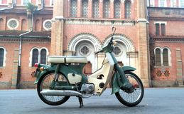 Honda dame. Original Honda dame 1967 in Saigon notredame Royalty Free Stock Photo