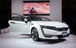 Honda-de auto van Duidelijkheidsfuel cell bij de de Motorshow 2015 wordt voorgesteld van Nagoya in Nagoya, Japan dat stock fotografie