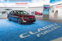 Honda-de Cel van de Duidelijkheidsbrandstof op vertoning tijdens La Auto toont Royalty-vrije Stock Fotografie