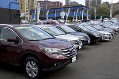 Honda dealer new cars stock photography