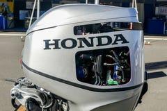 Honda engine exhibit at Norwalk boat show 2016 Royalty Free Stock Photo