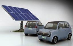 Honda EV-N con el conjunto solar Imágenes de archivo libres de regalías
