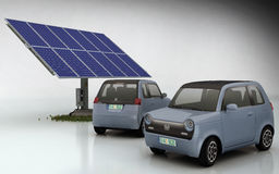 Honda EV-N with Solar Set stock illustration