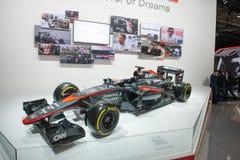 Honda F1 racing car. Frankfurt international motor show (IAA) 2015. Honda F1 racing car Royalty Free Stock Photo