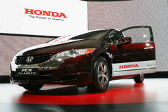 Honda FCX Clarity. At the Moscow International Automobile Salon (MIAS-2010) August 25 - September 5 Stock Photography