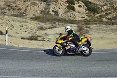 Honda Fireblade-Motorfiets Stock Fotografie