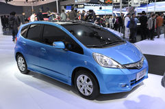 HONDA Fit. Small car in its exhibition hall,in 2010 international Auto-show GuangZhou. it is from 20/12/2010 to 27/12/2010. photo taken on 25 Dec. 2010 Royalty Free Stock Photos