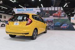 Honda Fit on display. Anaheim - USA - September 28, 2017: Honda Fit on display at the Orange County International Auto Show Stock Photography