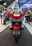 Honda Gold Wing Tour. Bangkok, Thailand - August 22, 2018: Front view of Honda Gold Wing Tour touring motorcycle presented in Big Motor Sale 2018 Royalty Free Stock Photo